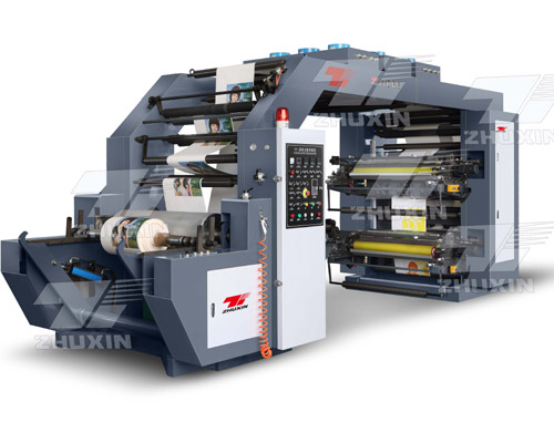 Four-color overlapping type synchronous belt  high speed printing machine