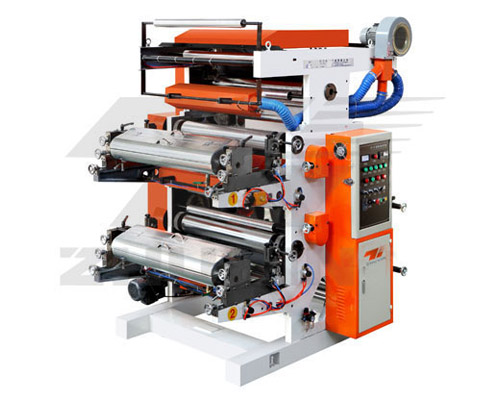 Two-color flexo printing machine